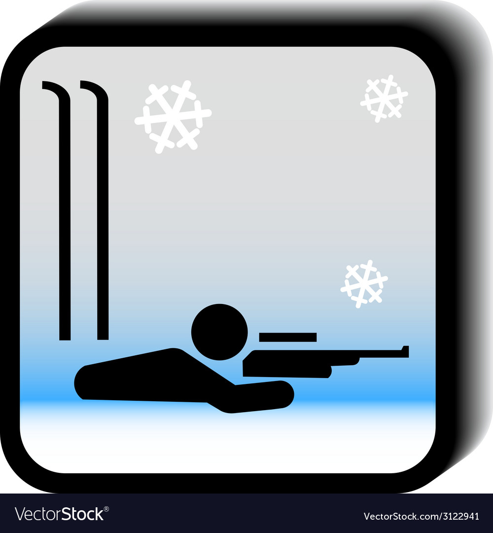 Winter icon -rifle vector | Price: 1 Credit (USD $1)