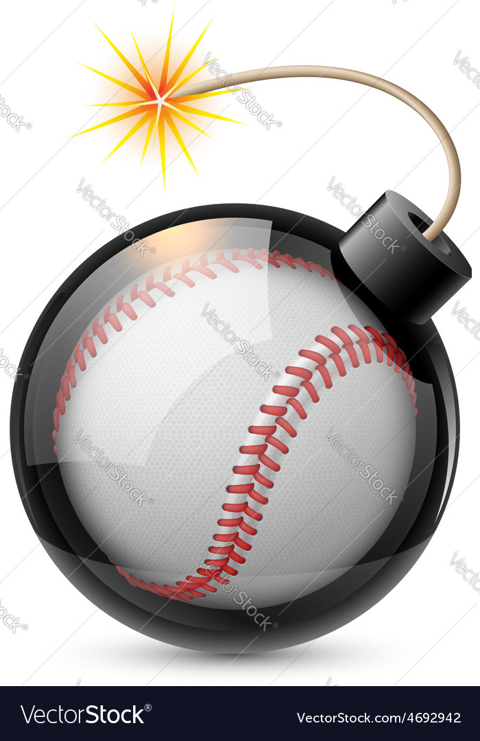 Abstract baseball shaped like a bomb vector | Price: 1 Credit (USD $1)