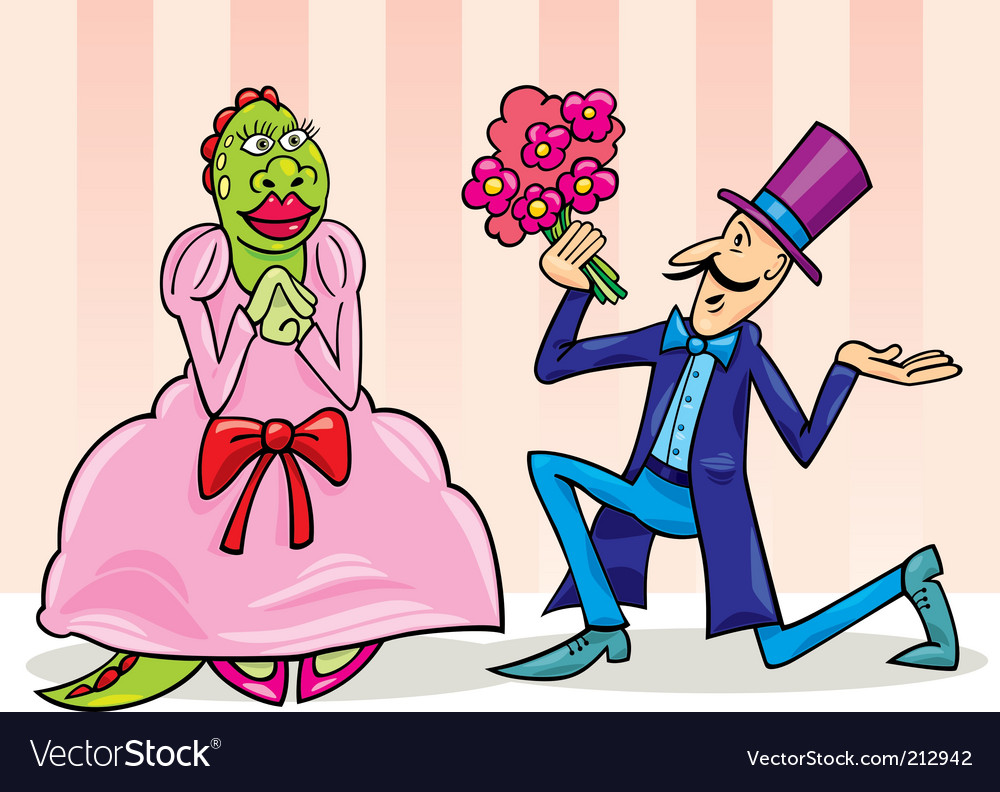 Cartoon monster proposal vector | Price: 1 Credit (USD $1)