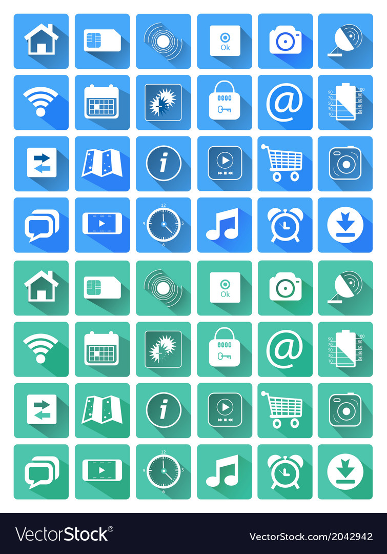 Flat icons for web and mobile applications vector   Price: 1 Credit (USD $1)
