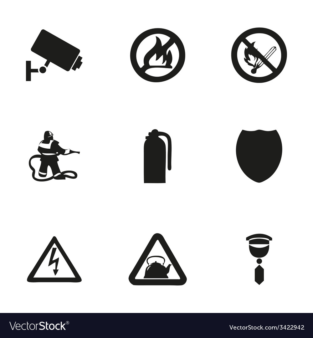 Home security icons set vector | Price: 1 Credit (USD $1)