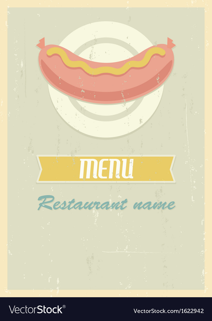 Retro menu cover vector | Price: 1 Credit (USD $1)
