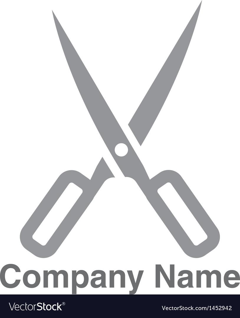 Salon scissors logo vector   Price: 1 Credit (USD $1)