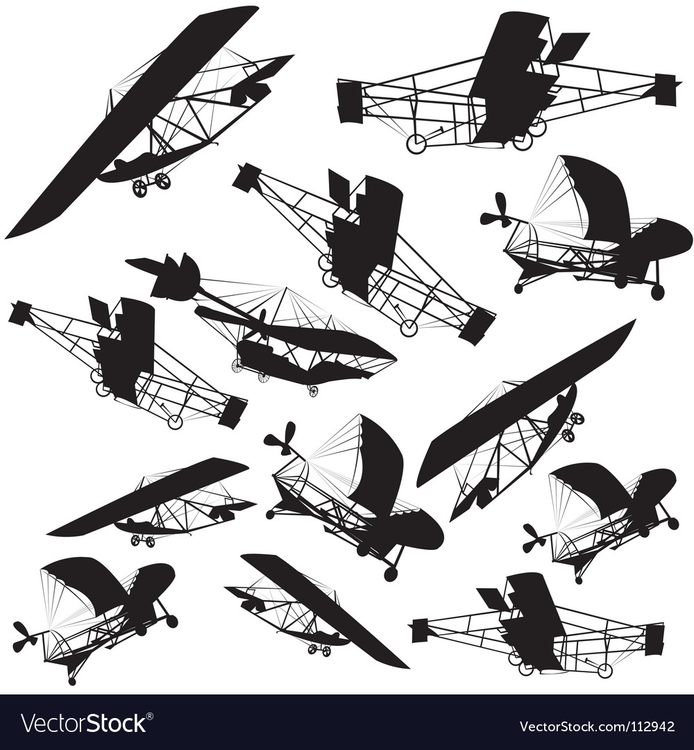 Vintage planes background vector | Price: 1 Credit (USD $1)