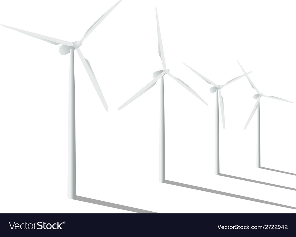 Wind generators vector | Price: 1 Credit (USD $1)