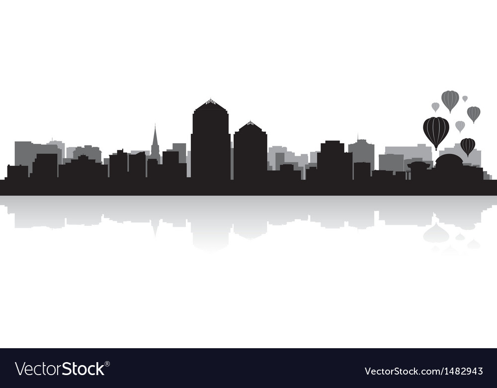 Albuquerque usa city skyline silhouette vector | Price: 1 Credit (USD $1)