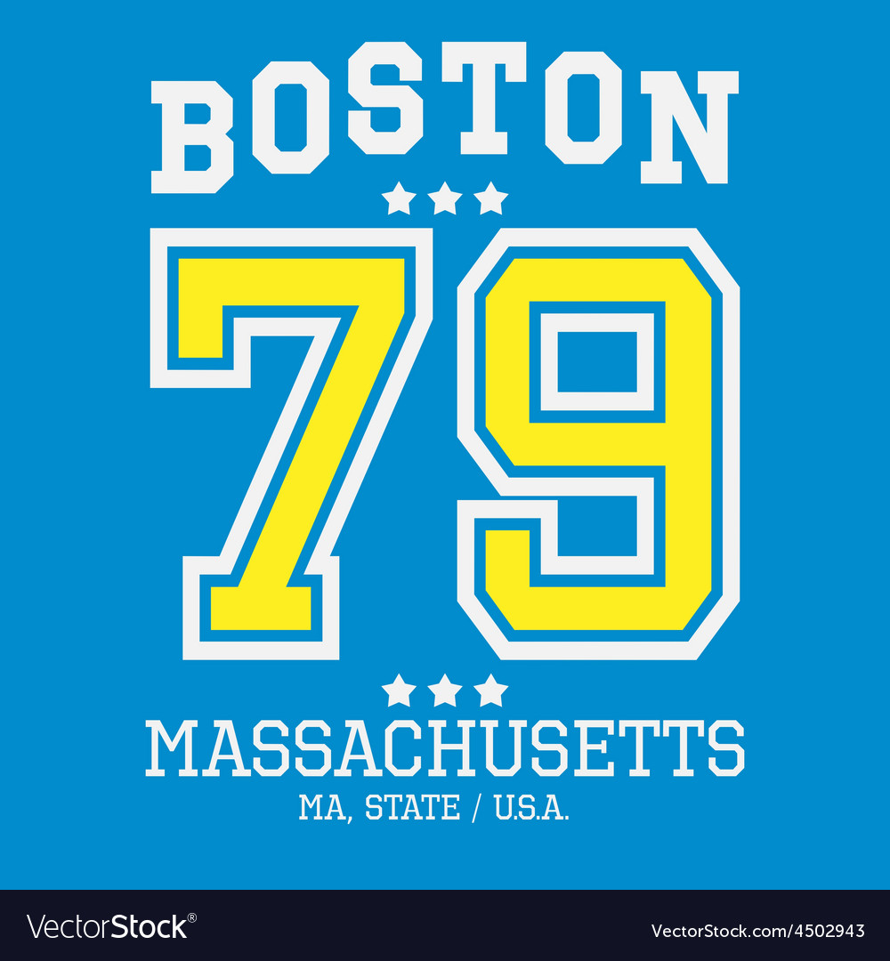 Boston sport team t-shirt typography vector | Price: 1 Credit (USD $1)