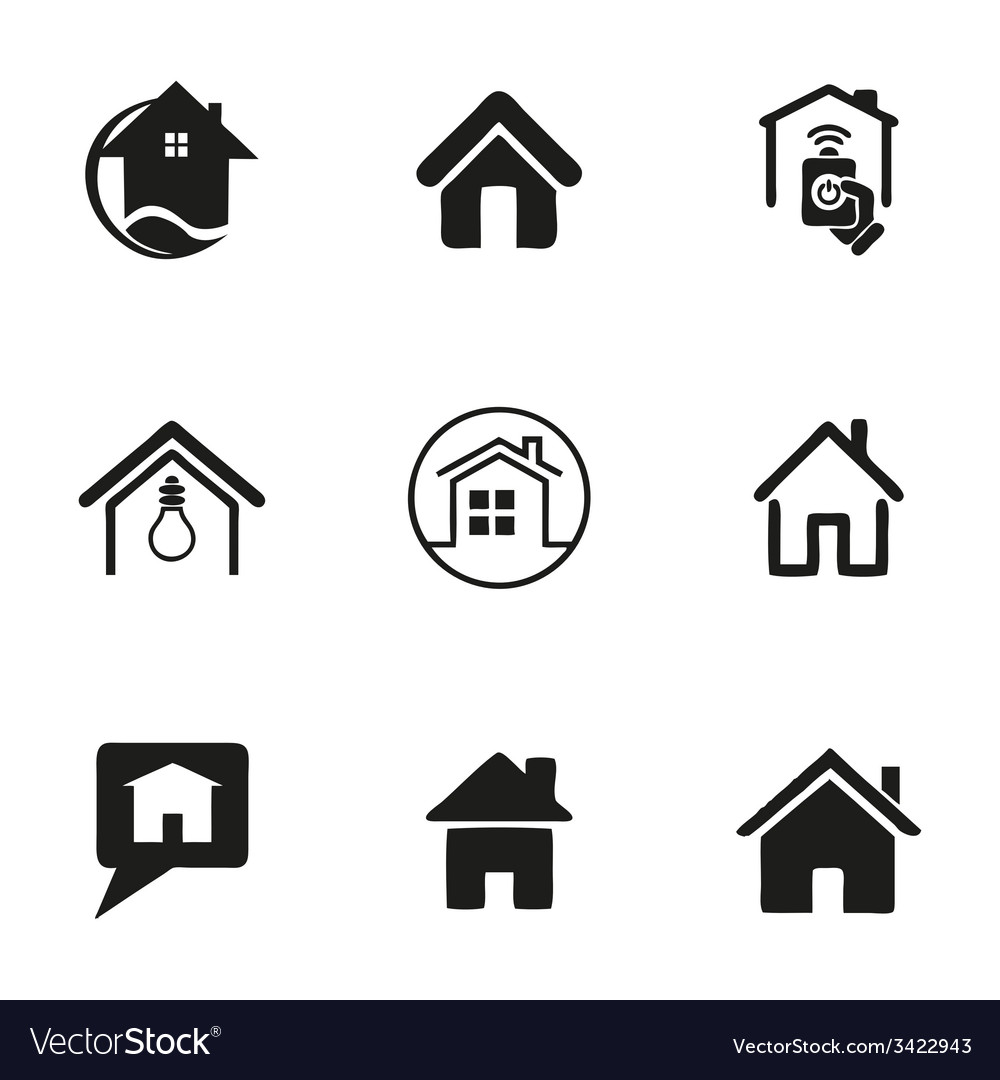 Home icons set vector | Price: 1 Credit (USD $1)