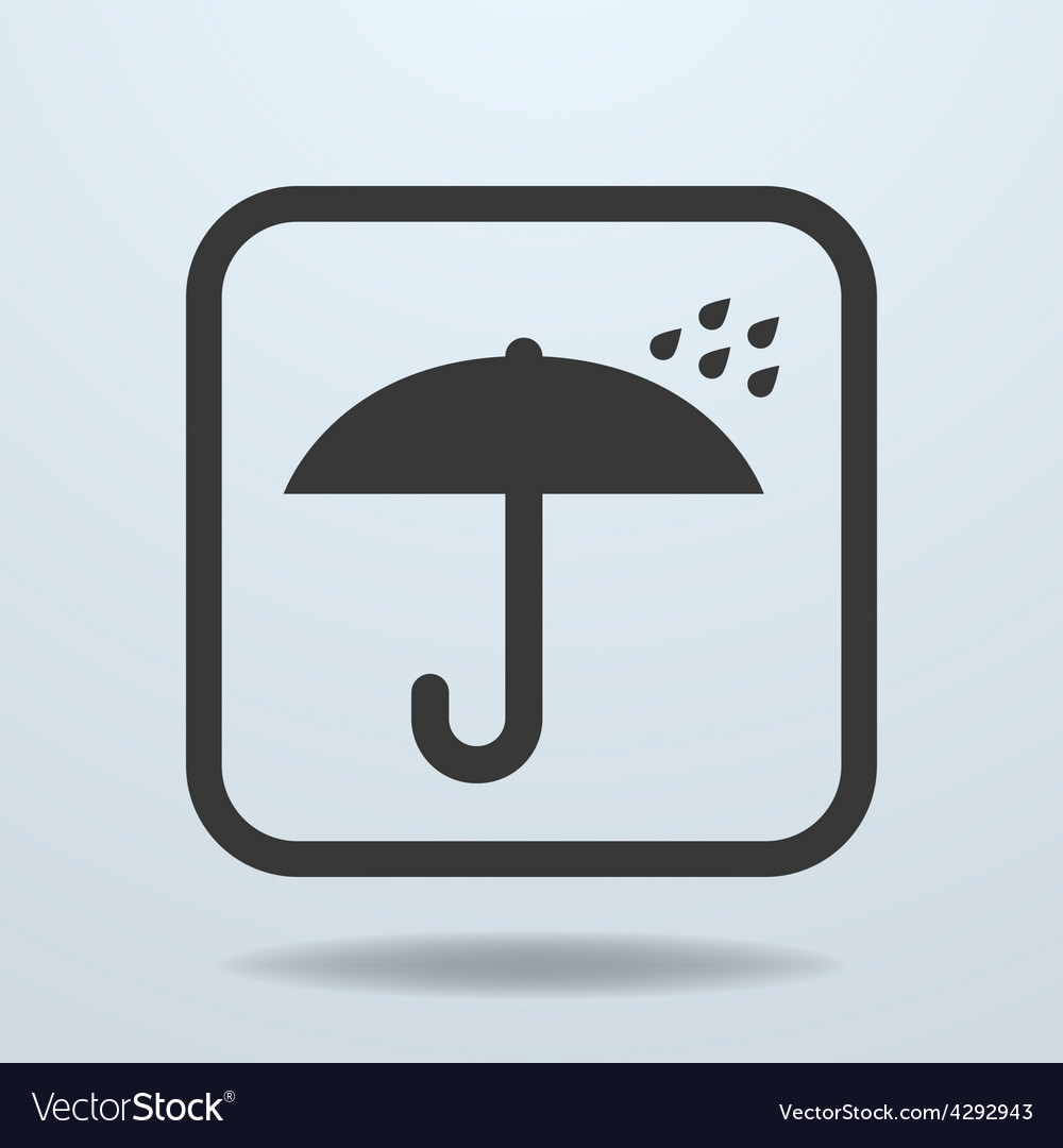 Icon of umbrella symbol sign vector | Price: 1 Credit (USD $1)