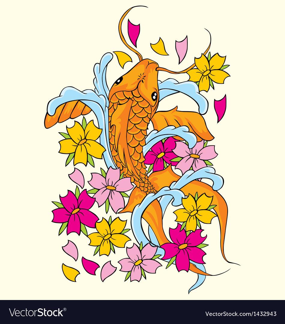 Koi fishes yin yang vector | Price: 1 Credit (USD $1)