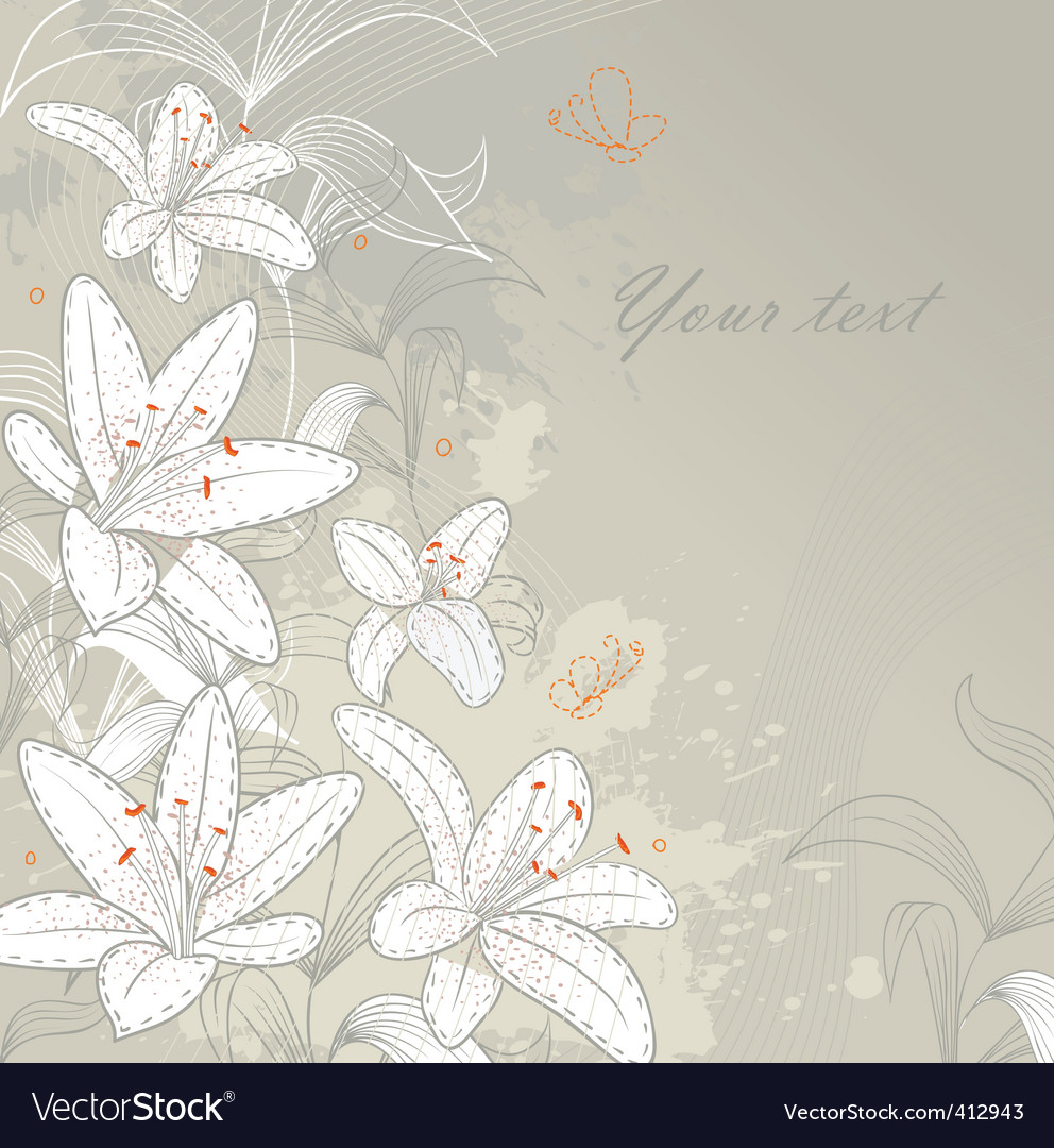 Lilies back vector | Price: 1 Credit (USD $1)