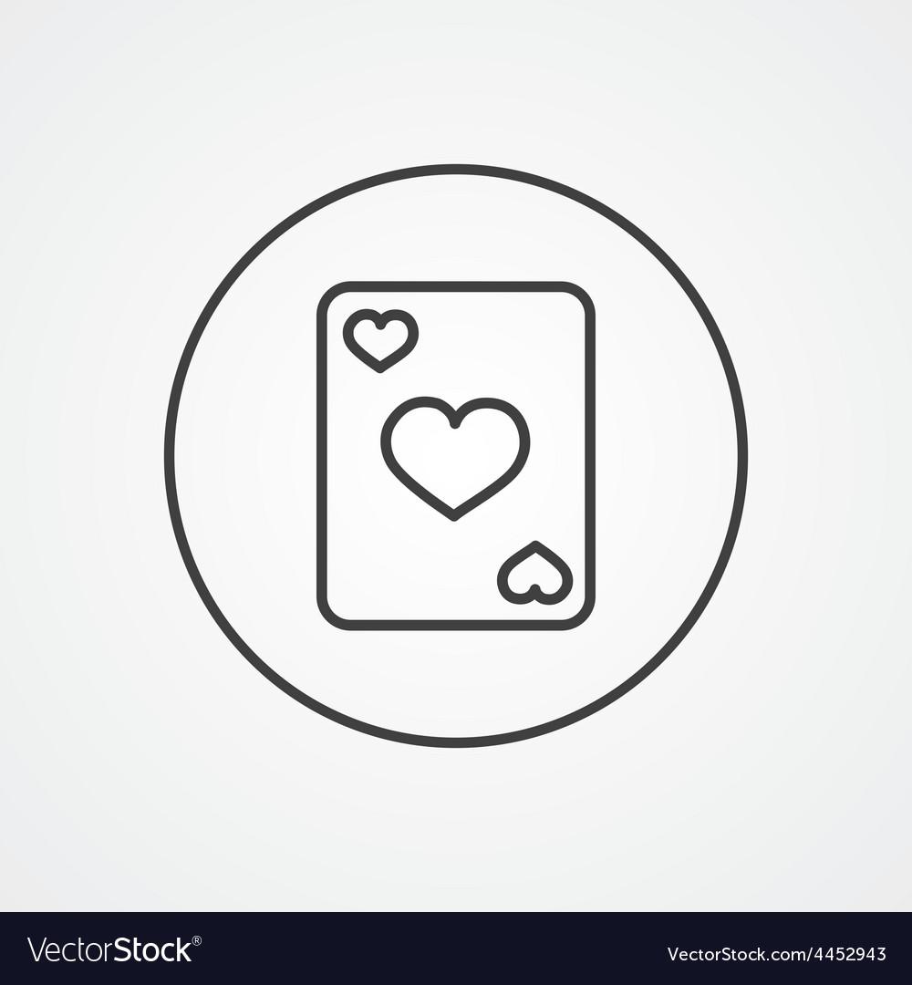 Poker outline symbol dark on white background logo vector   Price: 1 Credit (USD $1)
