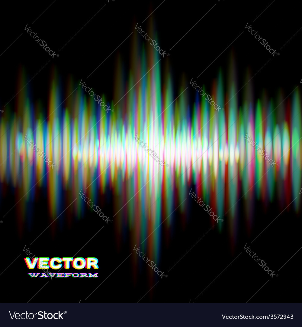 Shiny sound waveform vector | Price: 1 Credit (USD $1)