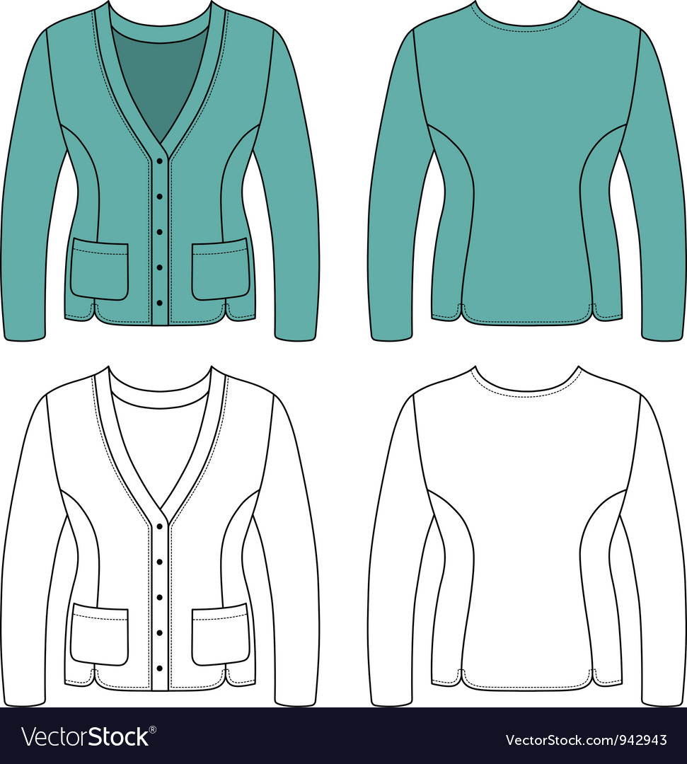 Template outline of a blank woman jac vector | Price: 1 Credit (USD $1)