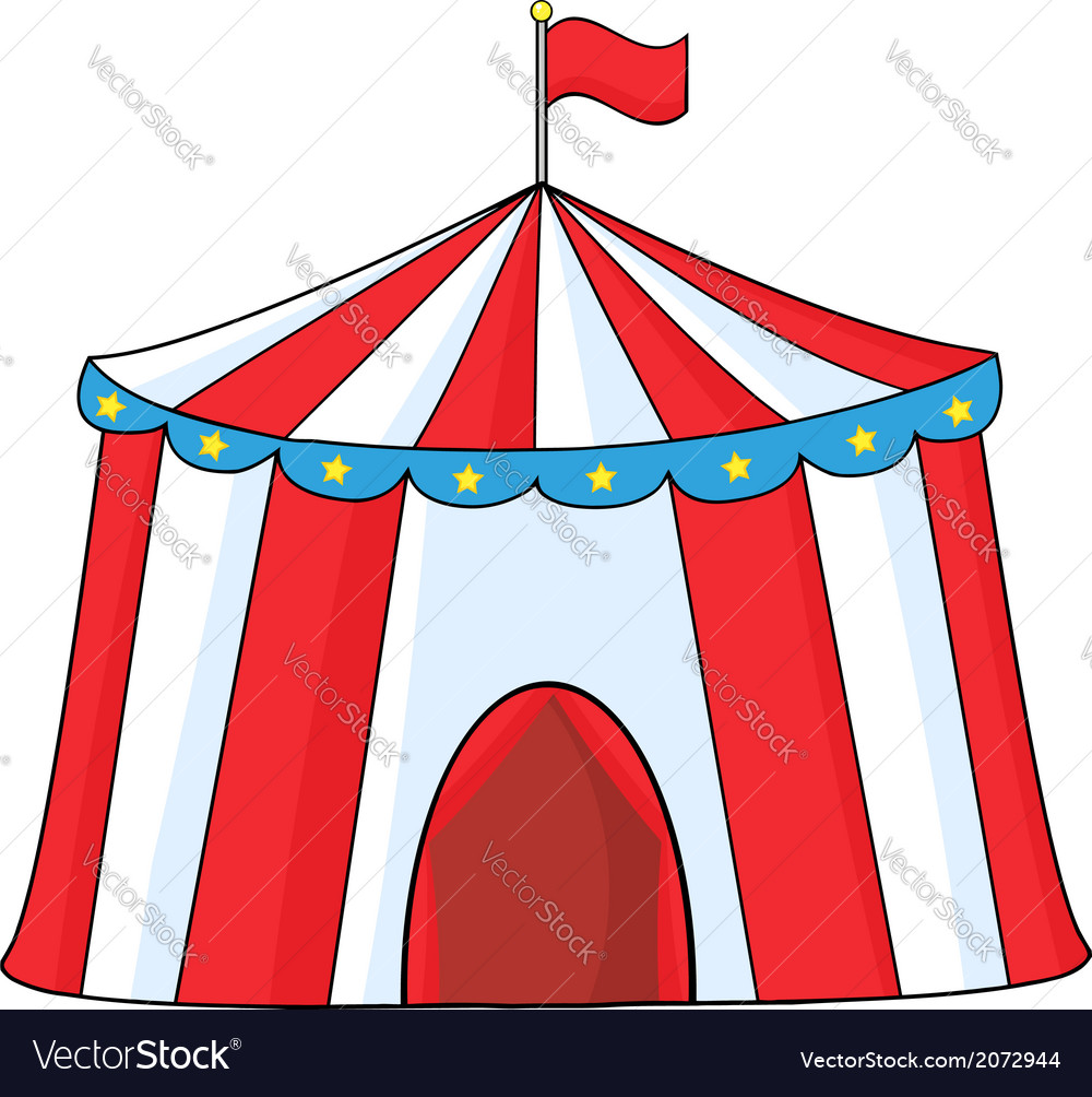 Circus tent cartoon vector | Price: 1 Credit (USD $1)