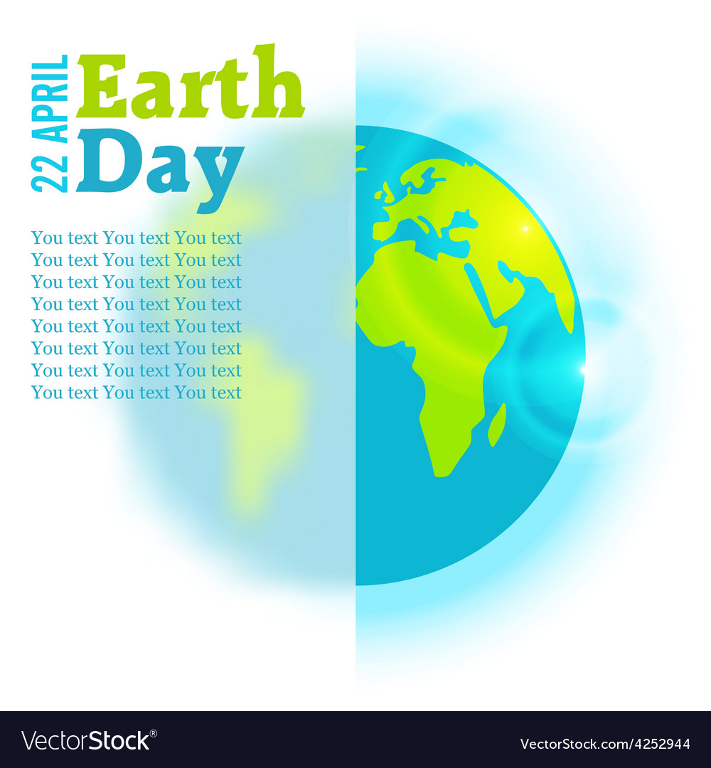 Earth day in blue vector | Price: 1 Credit (USD $1)