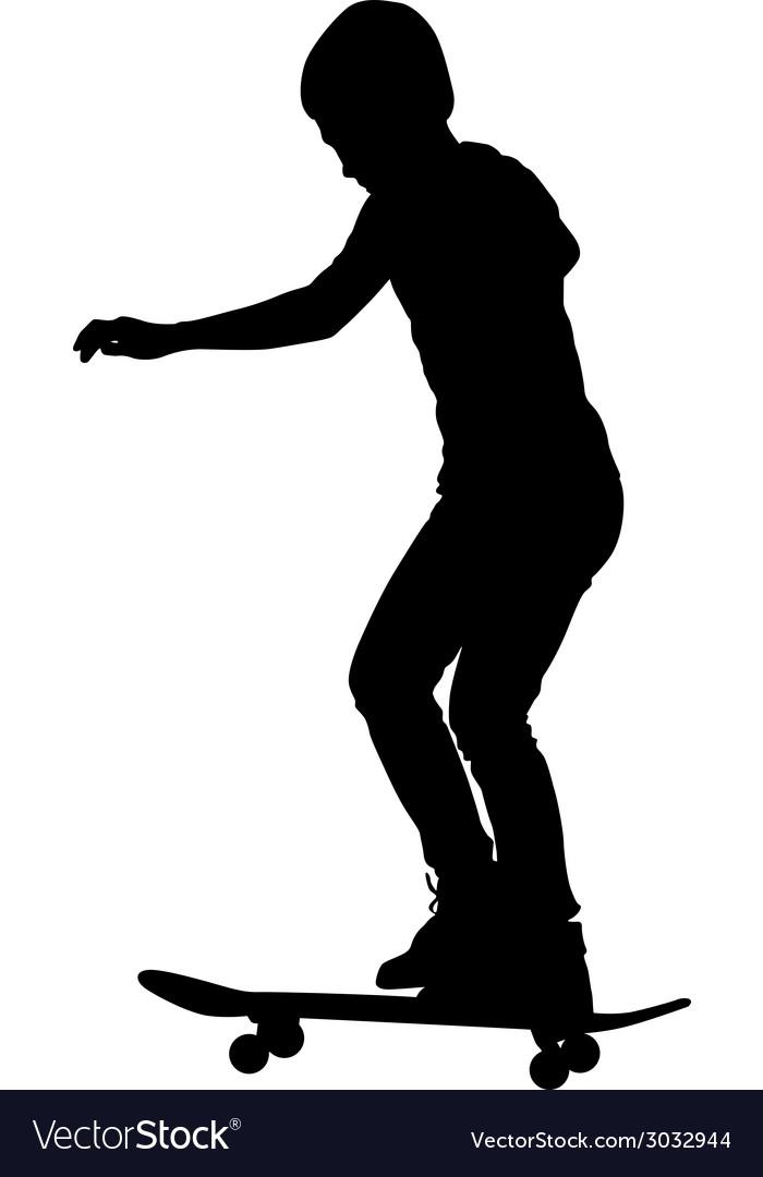 Skateboarders silhouette vector | Price: 1 Credit (USD $1)