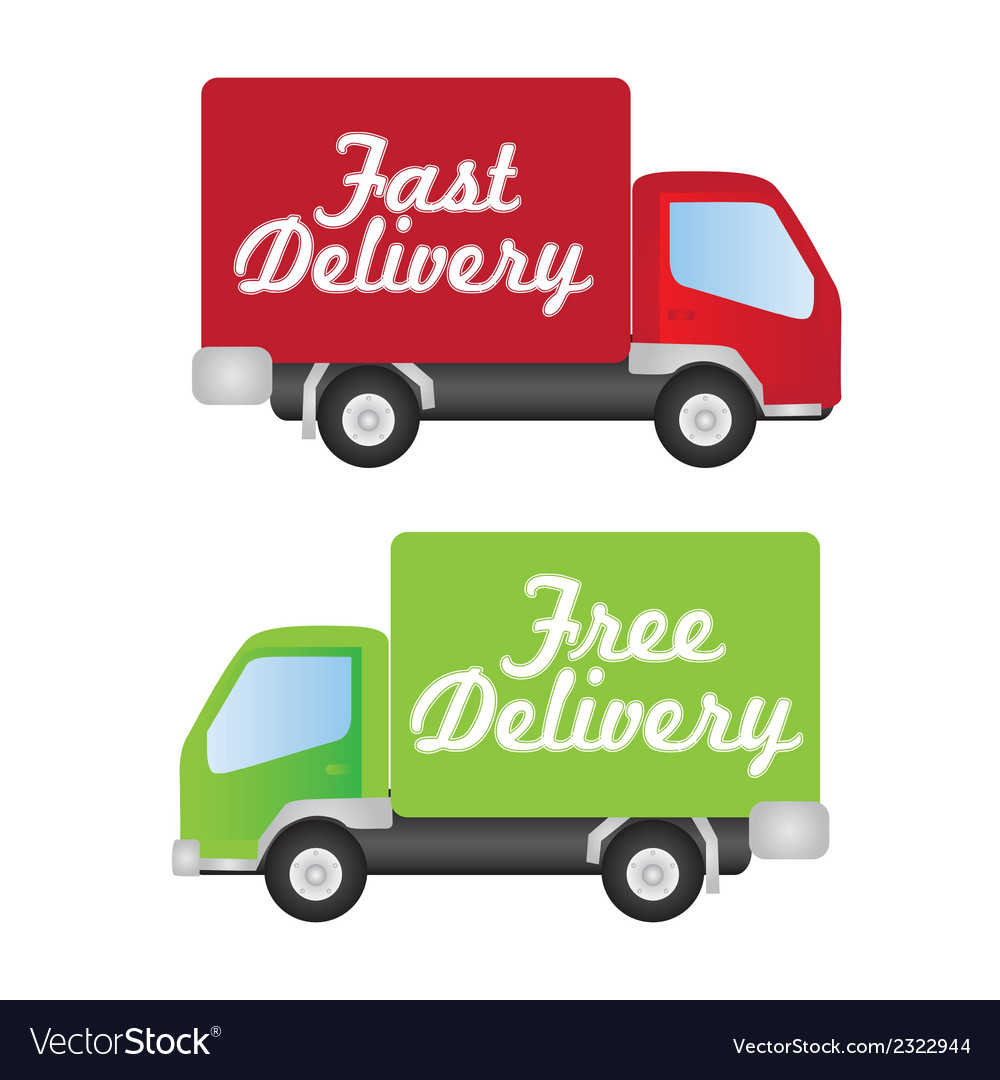 Truck fast and free delivery vector | Price: 1 Credit (USD $1)
