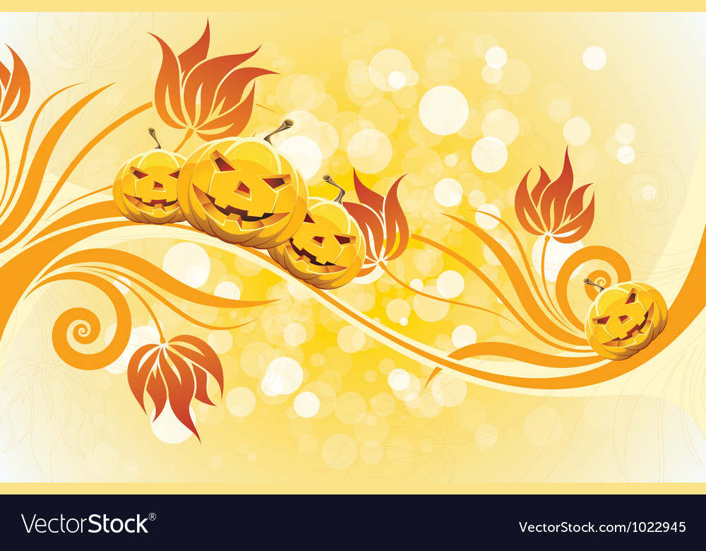 Abstract yellow halloween background vector | Price: 1 Credit (USD $1)