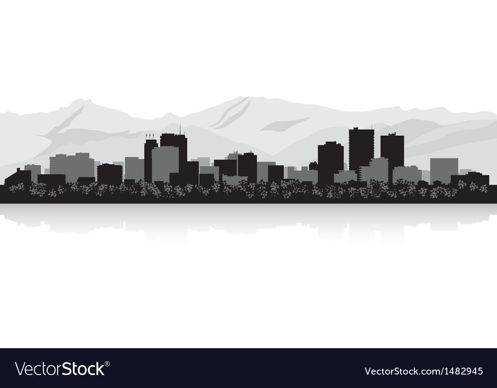 Anchorage usa city skyline silhouette vector | Price: 1 Credit (USD $1)