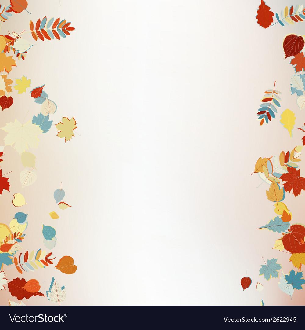 Beautiful autumn leaves vector | Price: 1 Credit (USD $1)