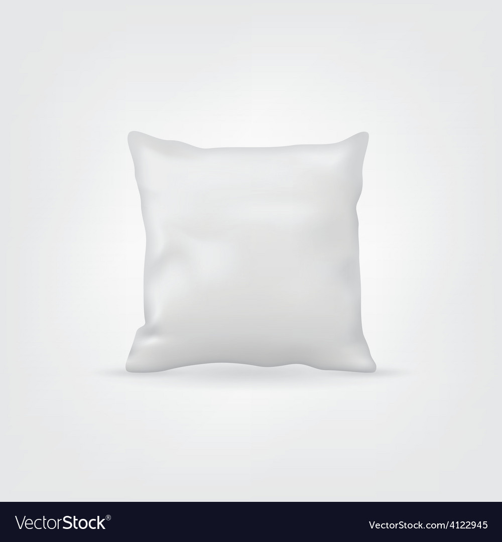 Blank white mockup cushion or pillow for design vector