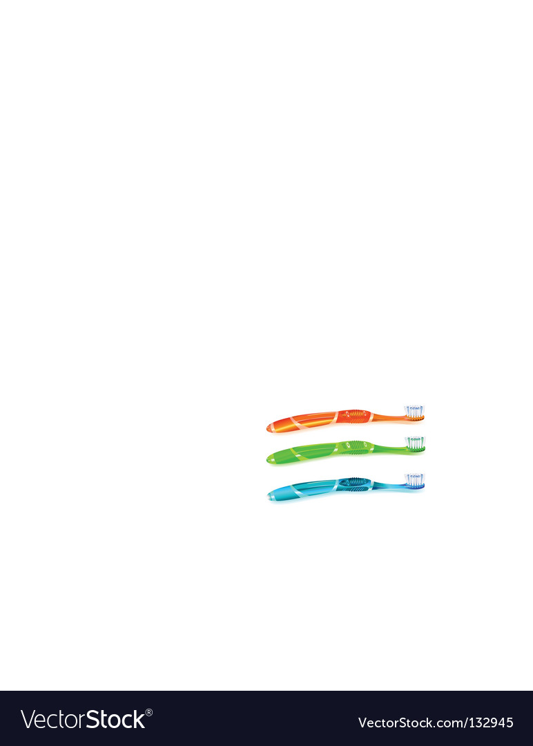 Colorful toothbrush vector | Price: 1 Credit (USD $1)