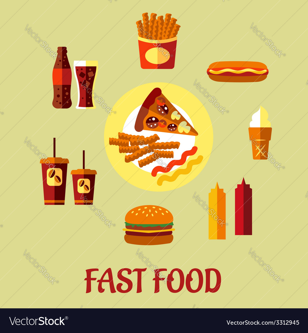 Fast food poster vector | Price: 1 Credit (USD $1)