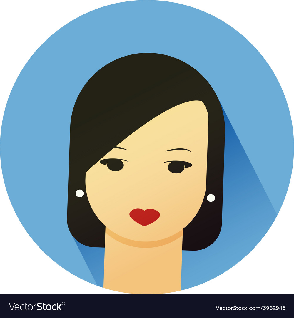 Girl with cute hair style vector | Price: 1 Credit (USD $1)