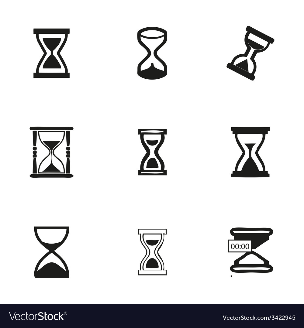 Hourglass icons set vector | Price: 1 Credit (USD $1)