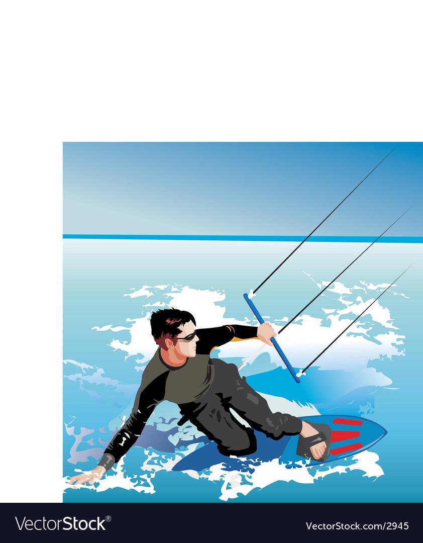 Kite boarding vector | Price: 3 Credit (USD $3)