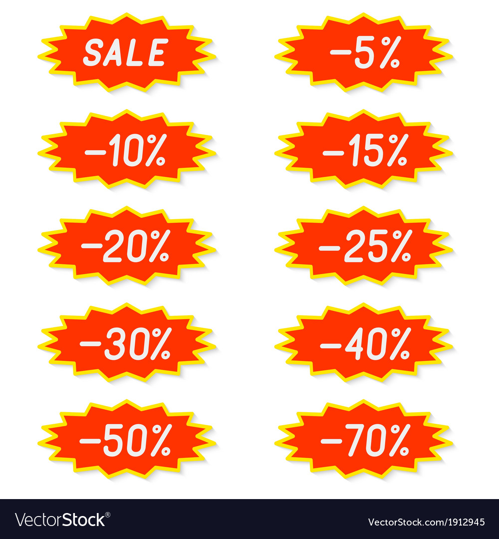 Labels discounts vector | Price: 1 Credit (USD $1)