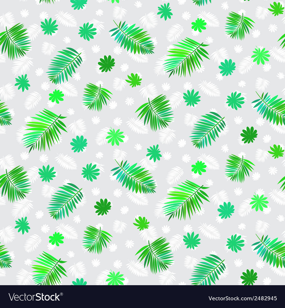 Pattern with leafs inspired by tropical nature vector | Price: 1 Credit (USD $1)