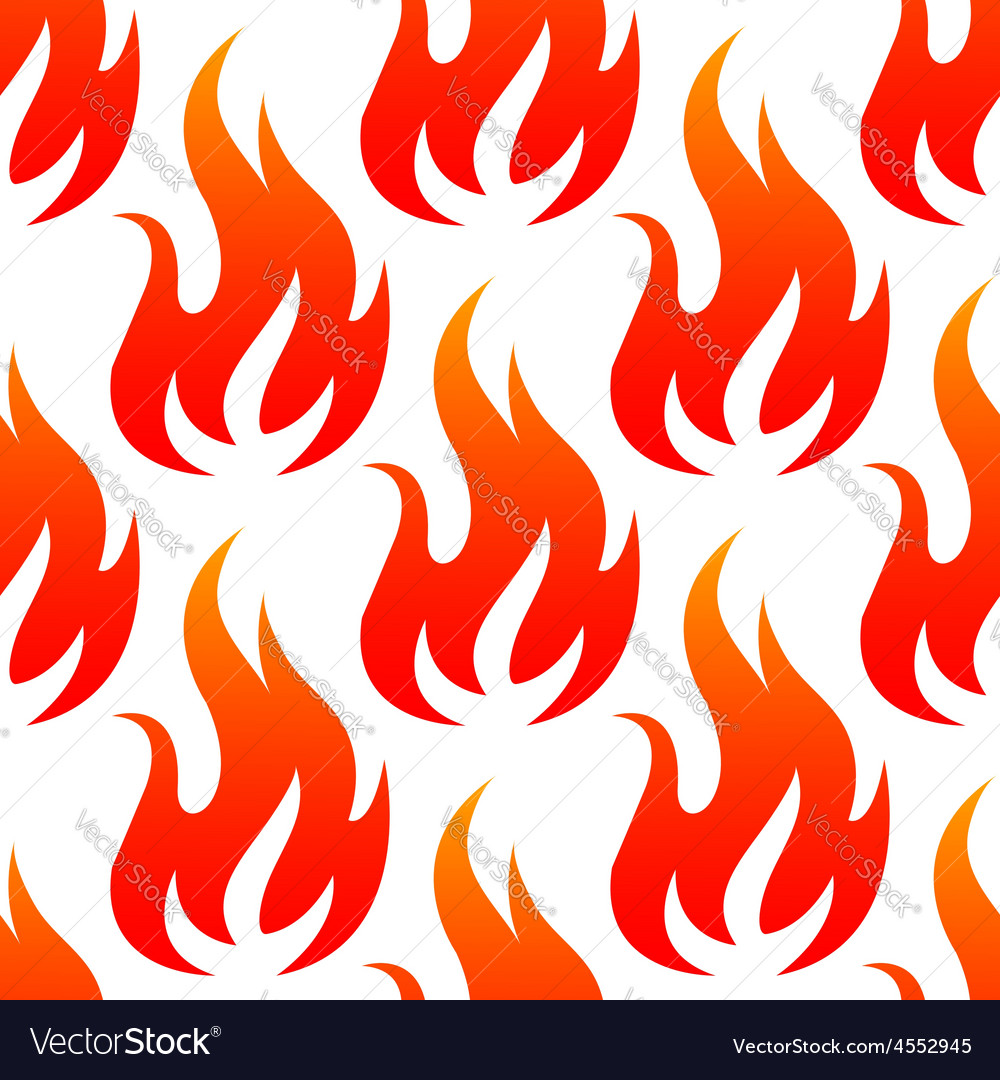 Red fire flames seamless pattern vector | Price: 1 Credit (USD $1)