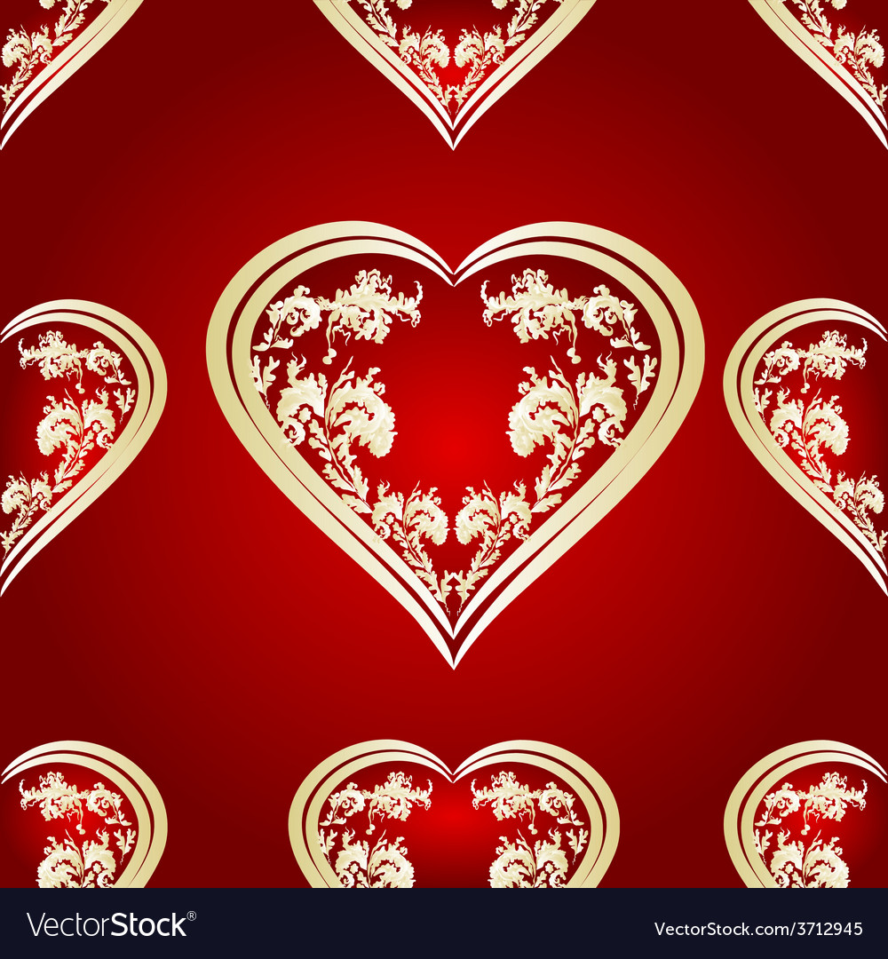 Seamless texture heart vector | Price: 1 Credit (USD $1)