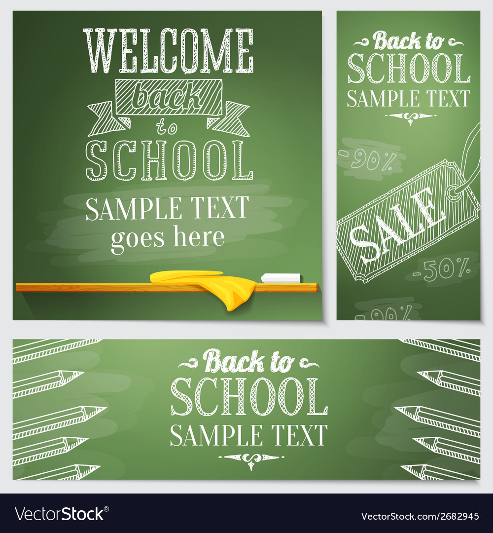 Set of school banners - different web site vector | Price: 1 Credit (USD $1)