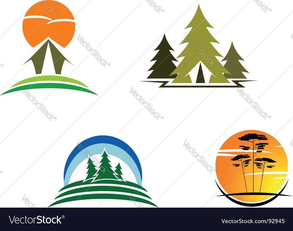 Tourism symbols vector | Price: 1 Credit (USD $1)