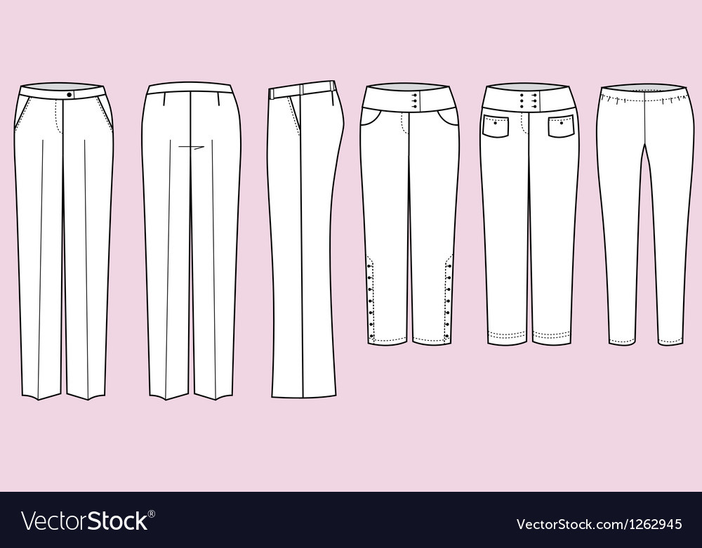 Trousers for woman vector | Price: 1 Credit (USD $1)