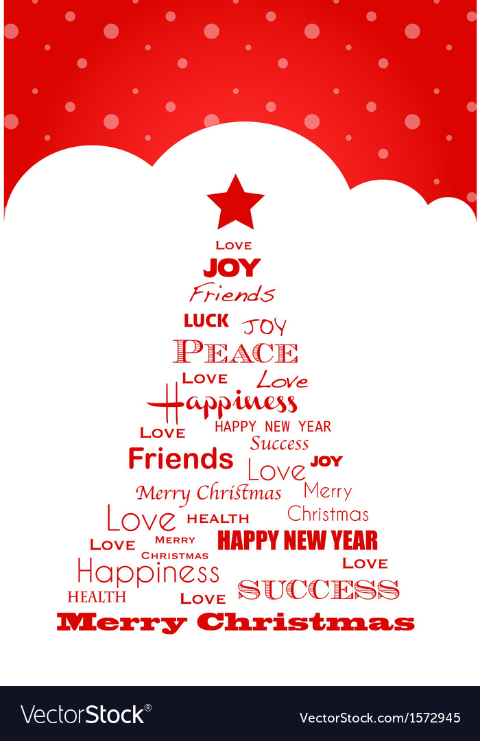 Wish tree christmas card vector | Price: 1 Credit (USD $1)
