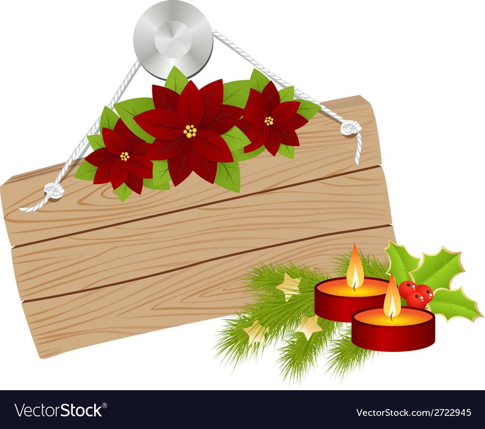 Wooden sign christmas 01 vector | Price: 1 Credit (USD $1)
