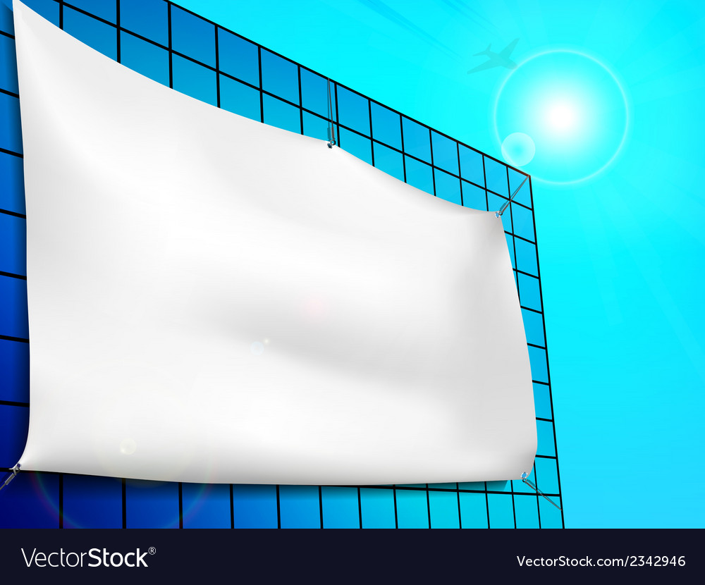 Blank billboard ad on the building vector