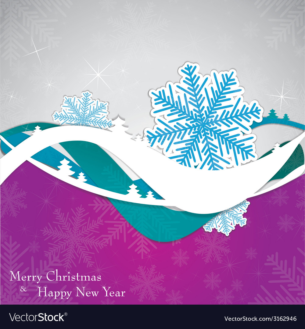 Christmas template frame design for greeting card vector | Price: 1 Credit (USD $1)