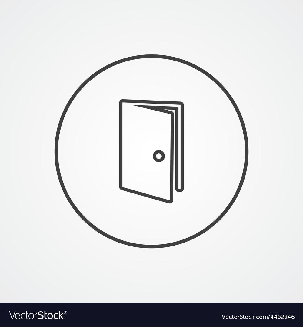 Door outline symbol dark on white background logo vector | Price: 1 Credit (USD $1)