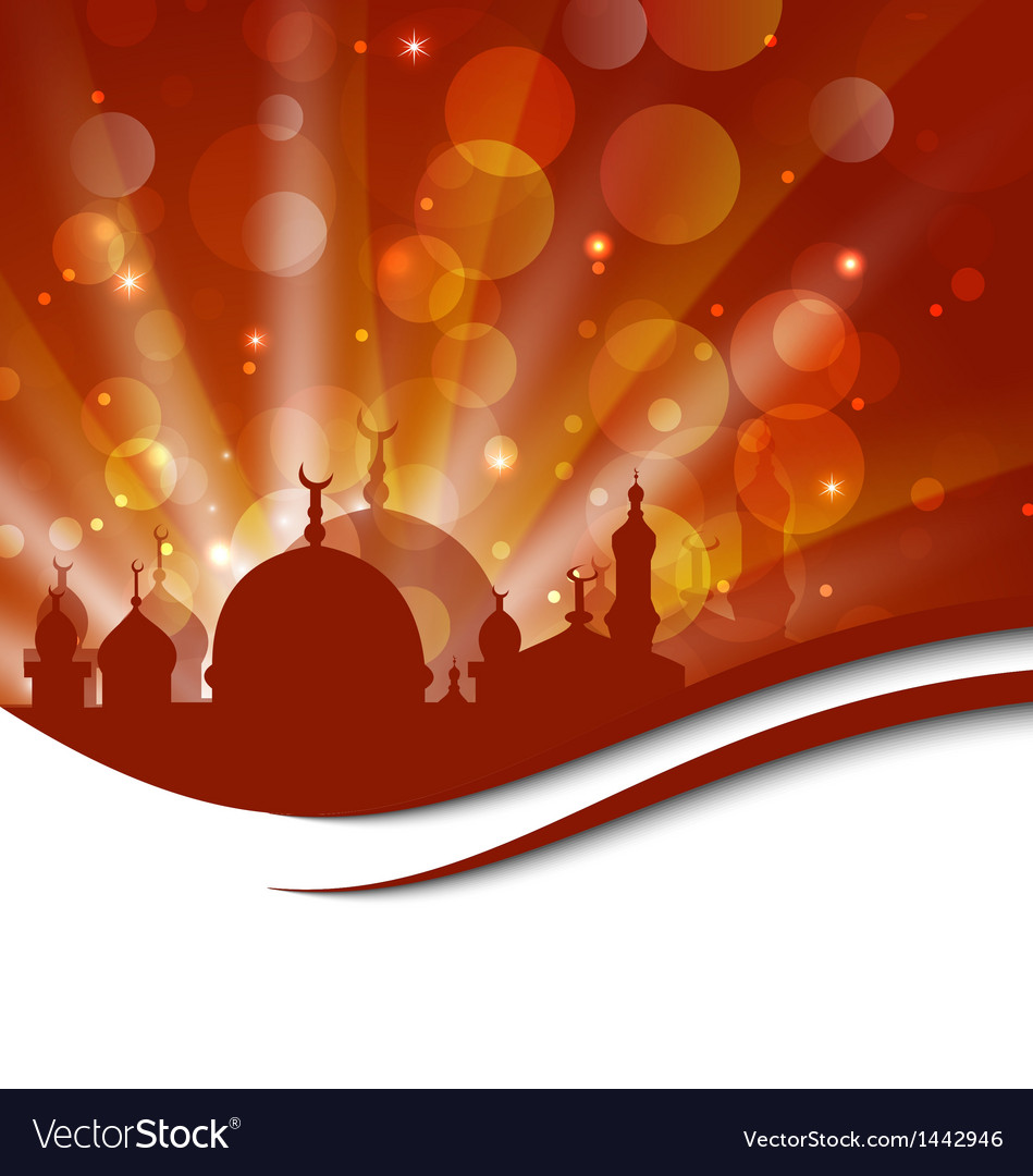 Elegant religious card with beautiful mosque vector   Price: 1 Credit (USD $1)