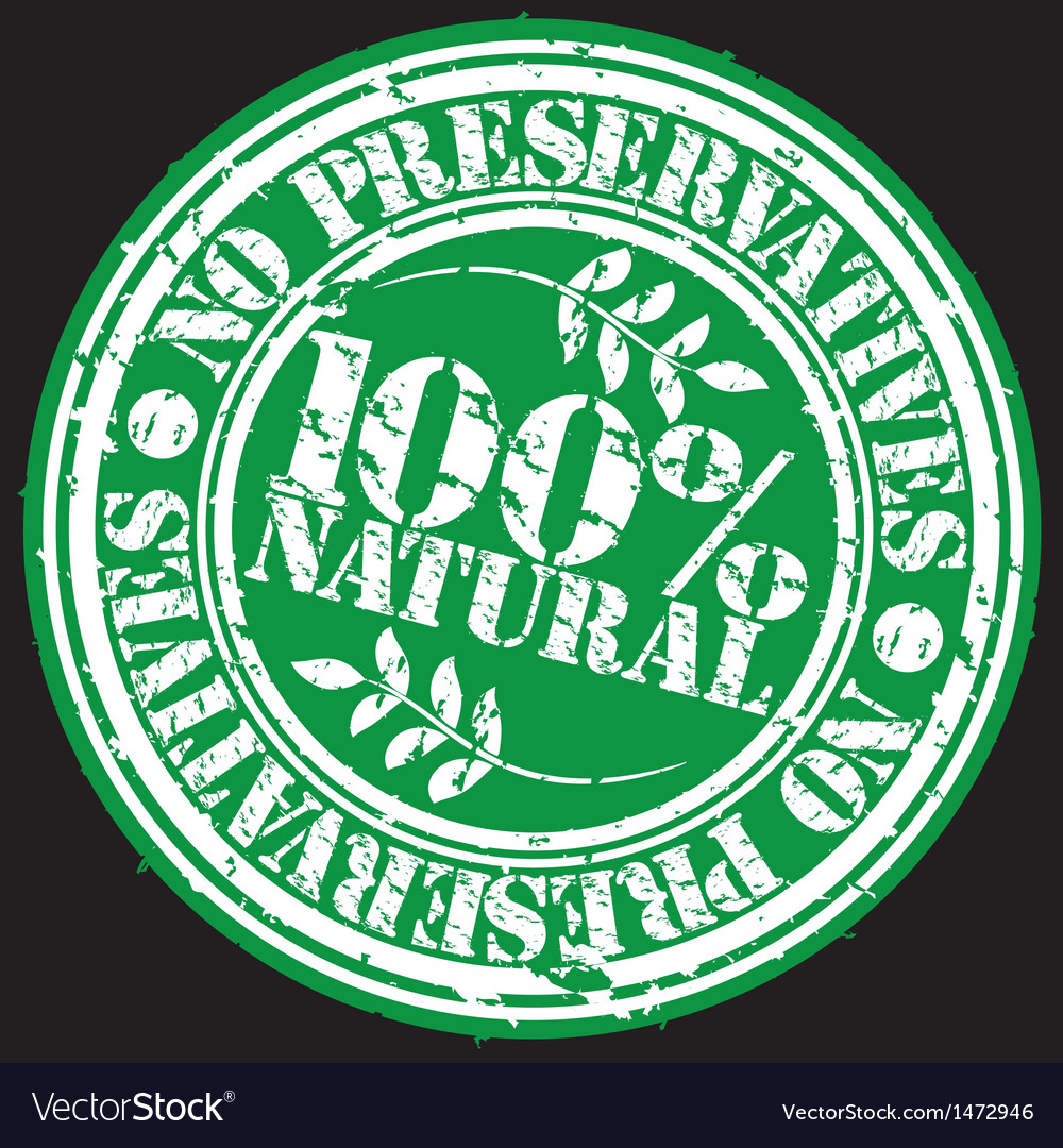 Grunge no preservatives 100 percent natural rubber vector | Price: 1 Credit (USD $1)