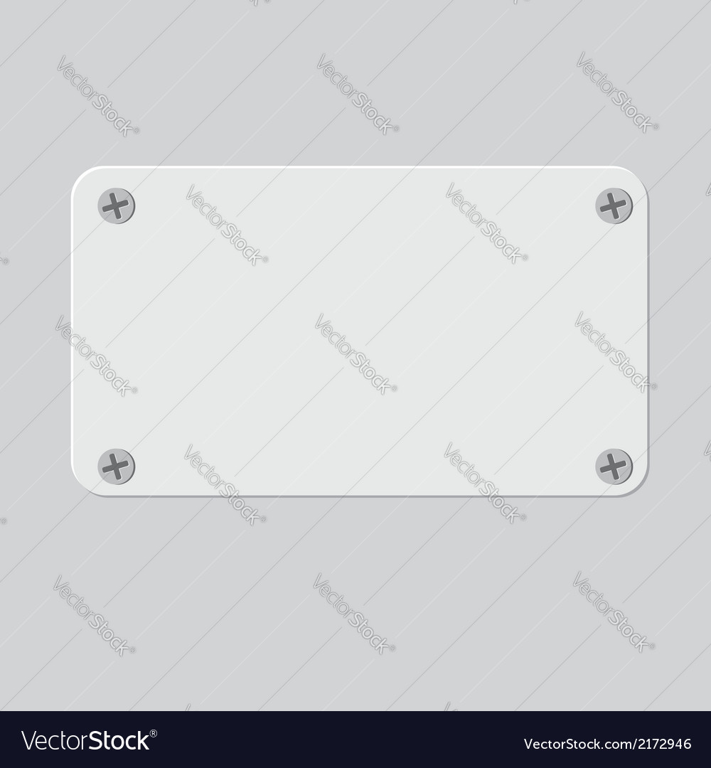 Metal texture plate with screws vector | Price: 1 Credit (USD $1)