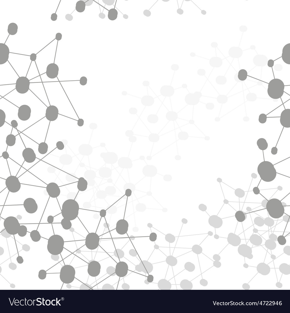 Molecule structure background seamless pattern vector | Price: 1 Credit (USD $1)