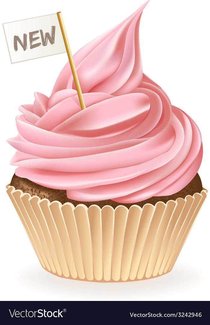 New cupcake vector | Price: 3 Credit (USD $3)