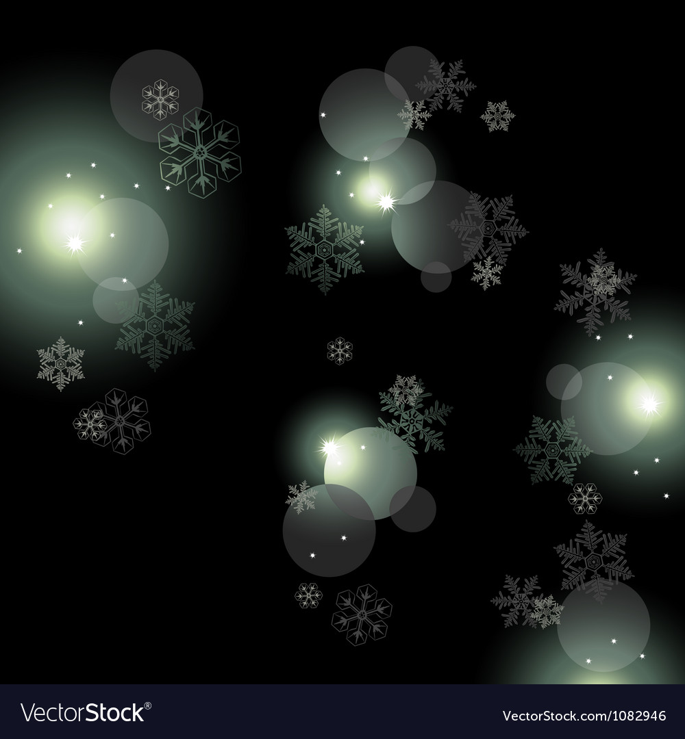 Night background with snowflakes vector   Price: 1 Credit (USD $1)