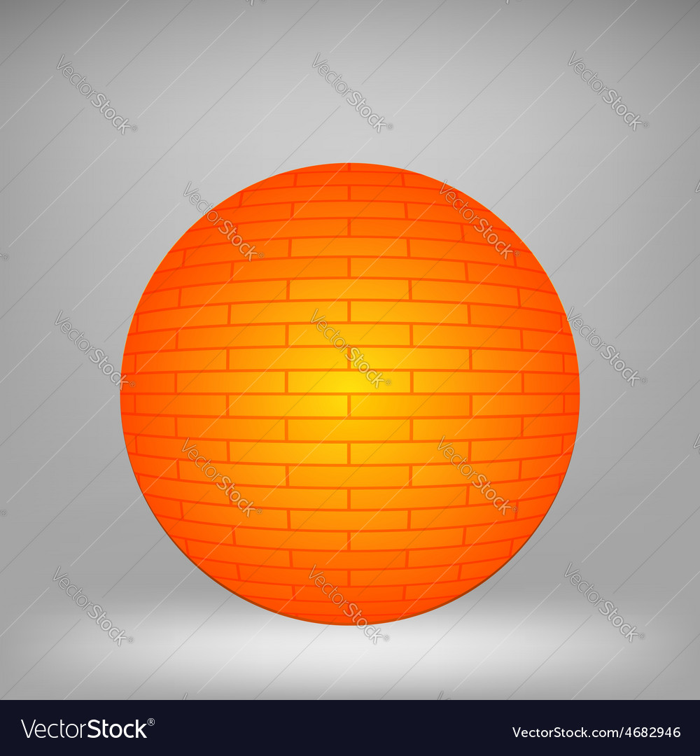 Orange sphere vector | Price: 1 Credit (USD $1)